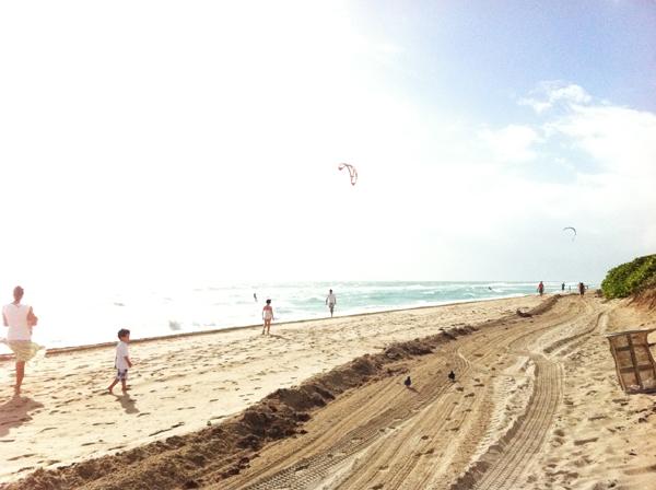 Kitesurfer in Miami Beach