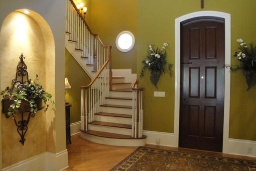 Hauseingang und Treppen