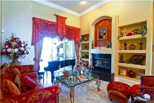 Formal living room with the fireplace