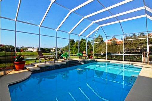 Beautiful glazed swimming pool